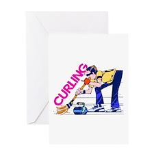 Curling Curler Curl Greeting Card