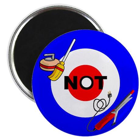 Curling NOT Curling Magnet