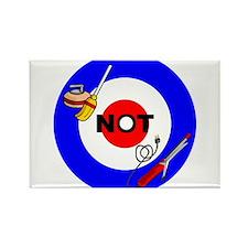 Curling NOT Curling Rectangle Magnet (10 pack)