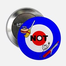 """Curling NOT Curling 2.25"""" Button"""