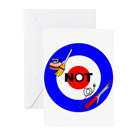 Curling NOT Curling Greeting Cards (Pk of 10)