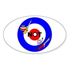 Curling NOT Curling Oval Decal