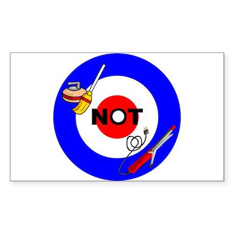 Curling NOT Curling Rectangle Sticker 50 pk)