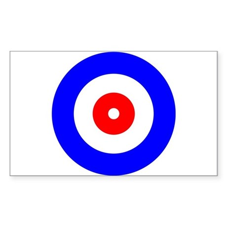 Curling Curlers Curl House Rectangle Sticker 50 p