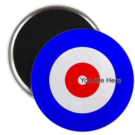 You Are Here Curling House Magnet