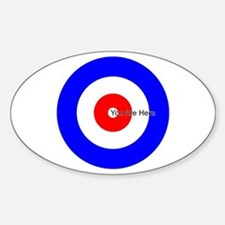 You Are Here Curling House Oval Decal