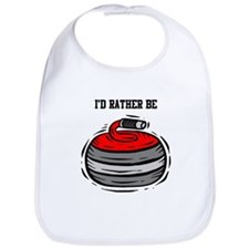 Rather Be Curling Bib