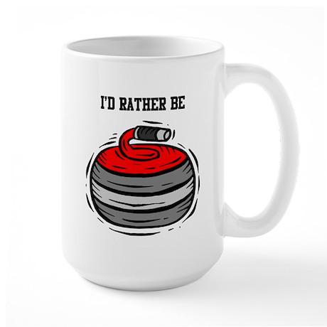 Rather Be Curling Large Mug