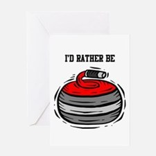 Rather Be Curling Greeting Card
