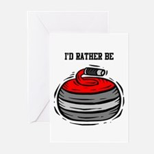 Rather Be Curling Greeting Cards (Pk of 20)