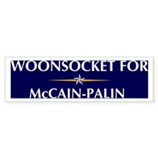 WOONSOCKET for McCain-Palin Bumper Bumper Sticker