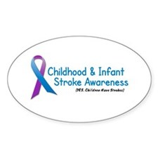 Childhood Stroke Awareness 1 Oval Decal