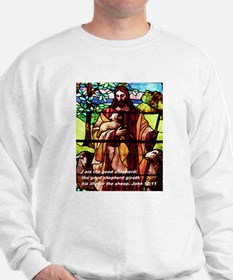 Jesus the Good Shepherd in St Sweatshirt