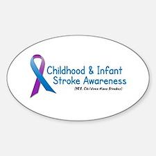 Childhood Stroke Awareness 1 Oval Decal