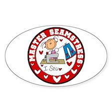 Master Seamstress Oval Sticker (10 pk)