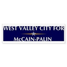 WEST VALLEY CITY for McCain-P Bumper Bumper Sticker