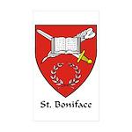 St Boniface Rectangle Sticker 10 pk)