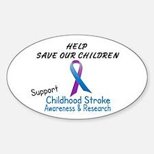 Childhood Stroke Awareness 2 Oval Decal