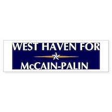 WEST HAVEN for McCain-Palin Bumper Bumper Sticker
