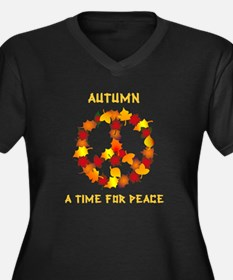 Autumn A Time For Peace Women's Plus Size V-Neck D