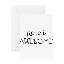 Funny I love rene Greeting Card