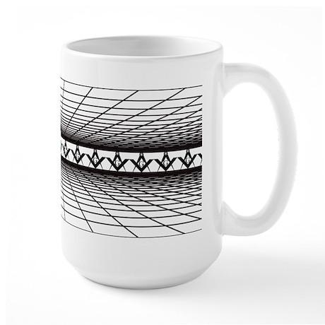 Masonic Grid Large Mug