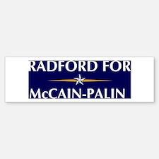 RADFORD for McCain-Palin Bumper Bumper Bumper Sticker