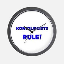 Koniologists Rule! Wall Clock