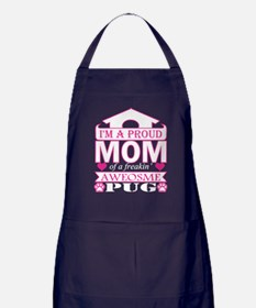 Im A Proud Mom Of Freaking Awesome Pu Apron (dark)
