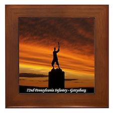 72nd PA Inf. Gettysburg Framed Tile
