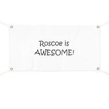 Cute I love roscoe Banner