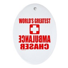AMBULANCE CHASER Oval Ornament