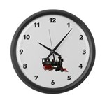 Train Large Wall Clock
