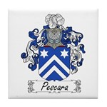 Pescara Family Crest Tile Coaster