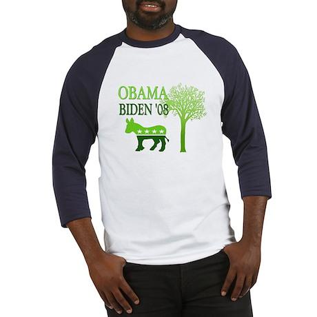 Obama Biden Green 08 Baseball Jersey