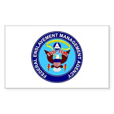 Stop FEMA Federal Enslavement Sticker (Rectangular