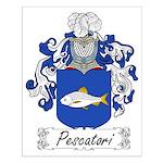 Pescatori Family Crest Small Poster