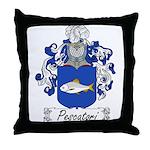Pescatori Family Crest Throw Pillow