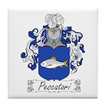 Pescatori Family Crest Tile Coaster