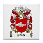 Pesce Family Crest Tile Coaster