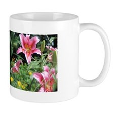Pink Star Lily Garden Mug