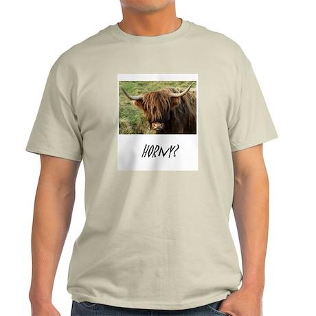 Highland Cow Ash Grey T-Shirt