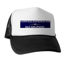 NASHVILLE-DAVIDSON for McCain Trucker Hat