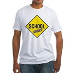 School Sucks Fitted T-Shirt