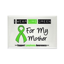 IWearLimeGreen (Mother) Rectangle Magnet