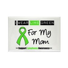 IWearLimeGreen (Mom) Rectangle Magnet