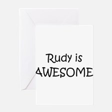 Funny Rudy Greeting Card