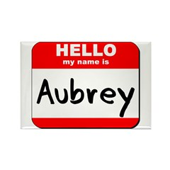 Hello my name is Aubrey Rectangle Magnet (10 pack)
