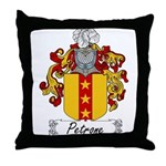Petrone Family Crest Throw Pillow
