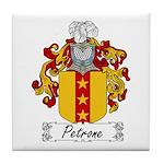 Petrone Family Crest Tile Coaster